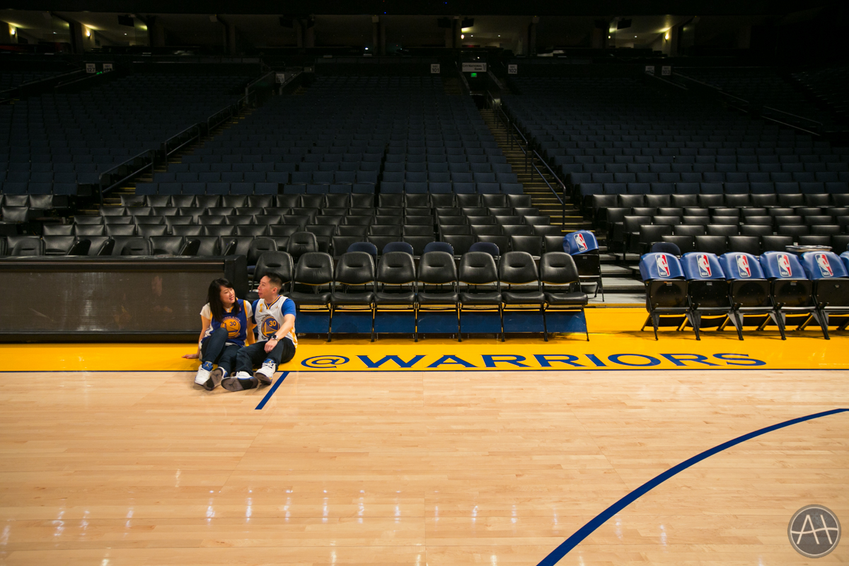 engagement session photos warriors nba stadium oakland oracle arena