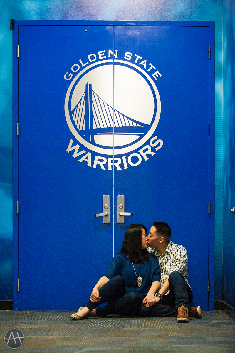 engagement photos warriors stadium oakland oracle arena locker room
