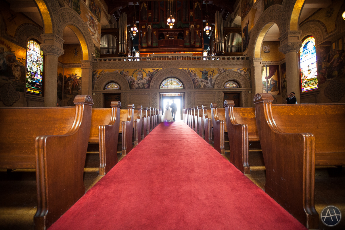 stanford church bride wedding