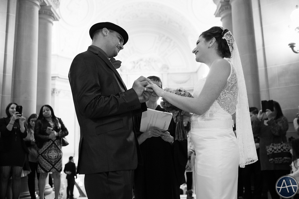 cityhall ceremony wedding sf