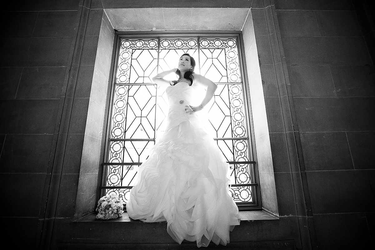 san francisco city hall wedding bride